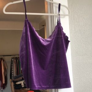Purple velvet cami